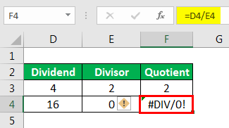 #DIV/0 Example 1