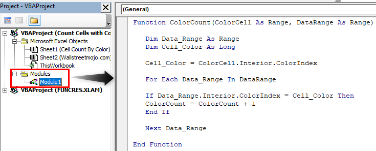 How to Count Cells with Color in Excel Example 1.10