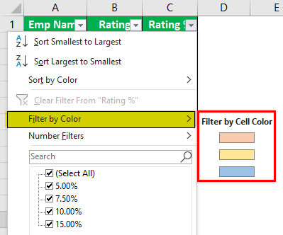 How to Count Cells with Color in Excel Example 1.6
