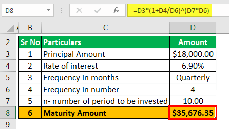 Investment Calculator - Example 1.2