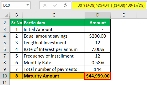 Investment Calculator - Example 2.2