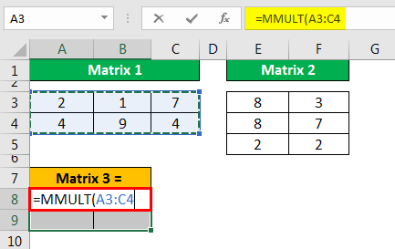 MMULT Excel - Example 1.4