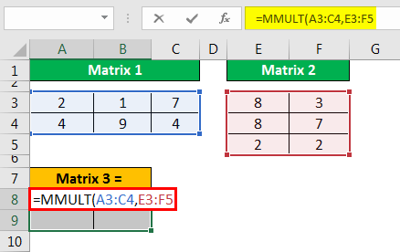 MMULT Excel - Example 1.5