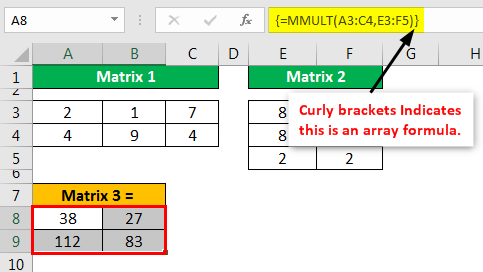MMULT Excel - Example 1.6