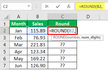 Excel Mathematical Function (Using Round) 1-2