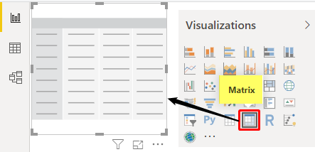 Matrix Visual in Power BI - Example 1-1