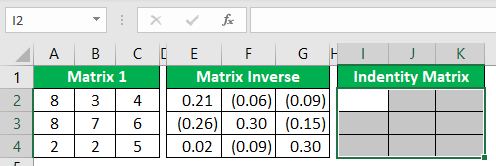Minverse in Excel - Example 2-6