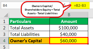 Owner's Capital Example 1.1