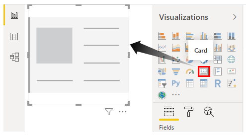 Power BI Aggregate - Insert Card
