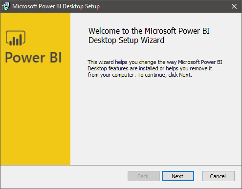 Power BI Desktop Setup