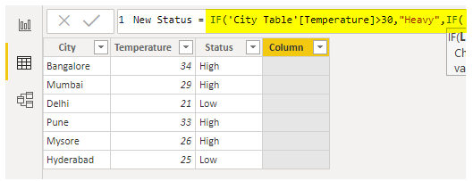 Power BI IF - IF Condition 2.1
