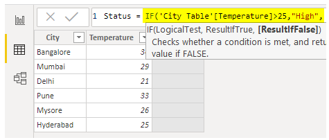 Power BI IF - IF Condition - High