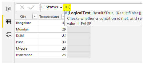 Power BI IF - IF Syntax