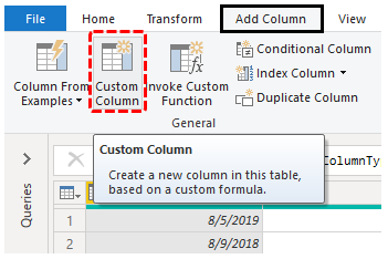 Power BI Query (Custom Column)