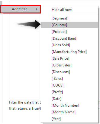 Power BI Security - Add Filter (Country)