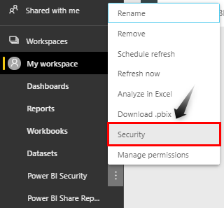 Select Security Option
