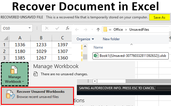 Recover Document in Excel