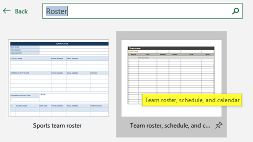 Roster Excel Template - Example 1.2