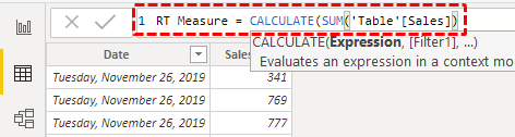Running Total in Power BI - Step 5