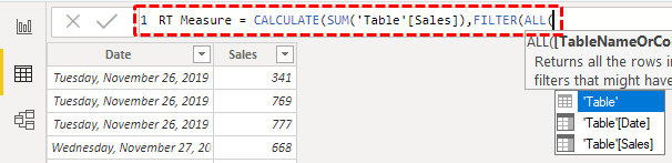 Running Total in Power BI - Step 7