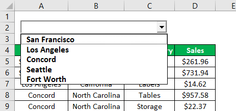 Search Box in Excel Example 1.12