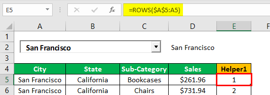 Search Box in Excel Example 1.14