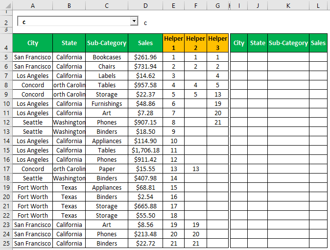 Search Box in Excel Example 1.17.0