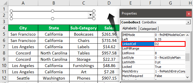 Search Box in Excel Example 1.5