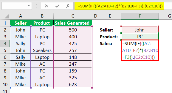 Ctrl Shift Enter in Excel Example 2.2