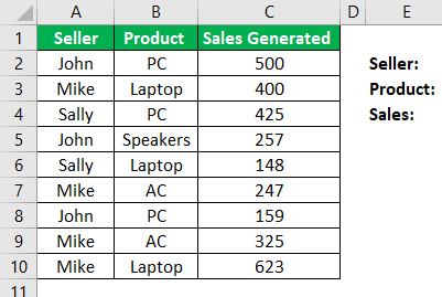 Ctrl Shift Enter in Excel Example 2