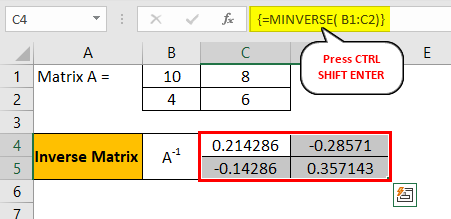 Shift Enter in Excel Example 3.5