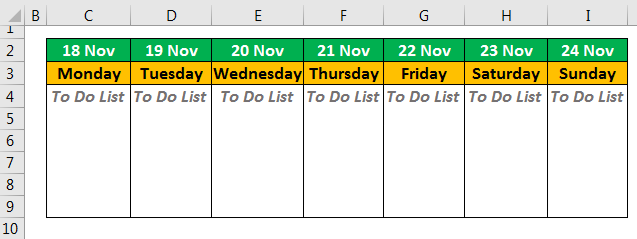 Weekly Planner Template - Example 2.5