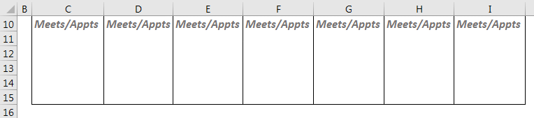 Example 2.6 - Meetings/Appointments