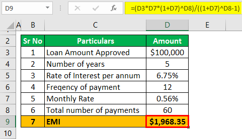 Adjustable rate mortgage calculator Example 1-1