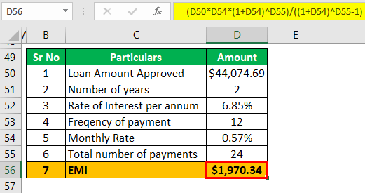 Adjustable rate mortgage calculator Example 1-3