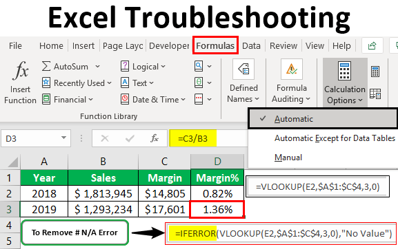 Excel Troubleshooting