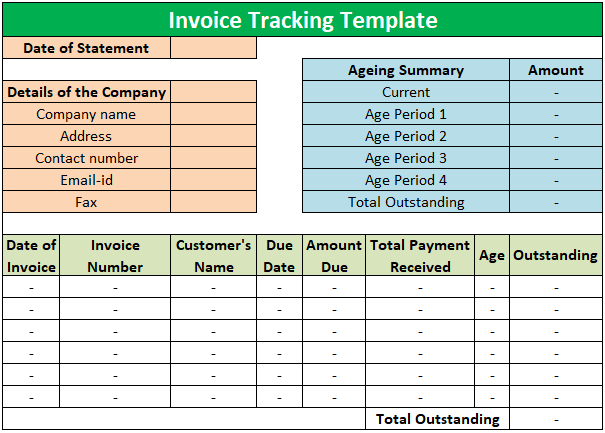 Free Invoice Tracking Template