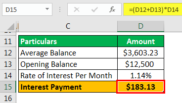 Example 1.5 - Interest Payment