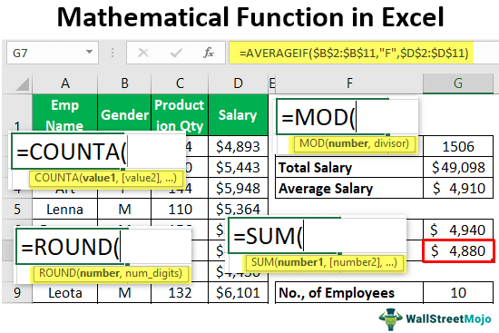 Mathimatical-Function-in-Excel