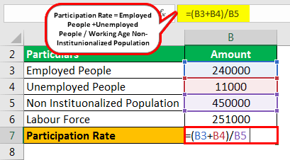 Participation Rate Formula Example 2.2