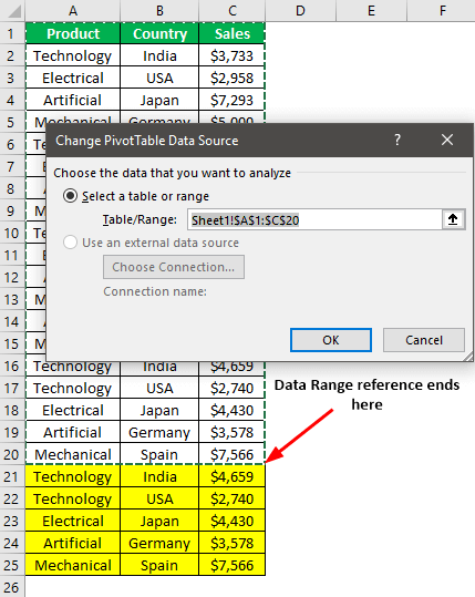 Pivot Table Update Example 2-2