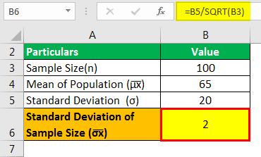 Sampling Distribution Formula Example 1.2