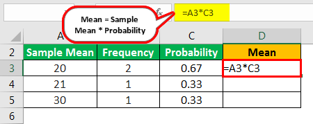 Sampling Distribution Formula Example 3.1