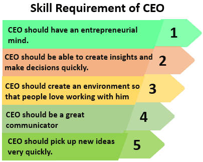 Skill Requirement of CEO