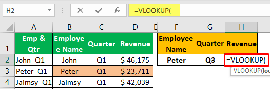 Unique Lookup Value - Example 1-1