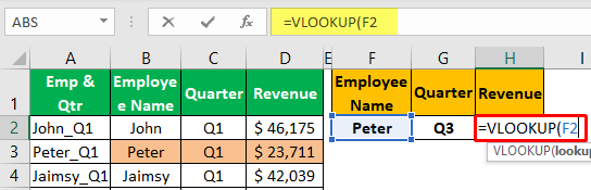 Unique Lookup Value - Example 1-2