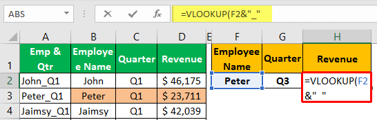 Unique Lookup Value - Example 1-4