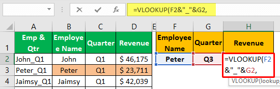 Unique Lookup Value - Example 1-5