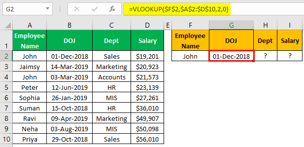 VLOOKUP Names Example 2.3