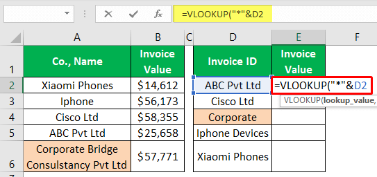 VLOOKUP Partial Match - Example 1-4